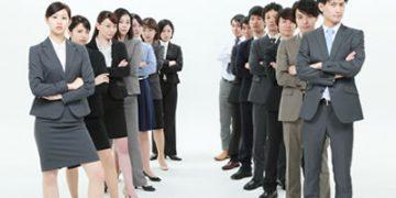 女性グループと男性グループ